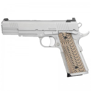 Dan Wesson 01807 Specialist 9mm Luger 5in. 10+1 Stainless Steel Black/Brown G10 Grip