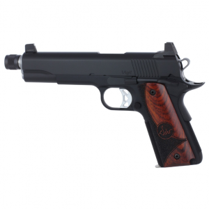 Dan Wesson 01830 1911 Vigil Single 45 Automatic Colt Pistol (ACP) 5 TB 8+1 Wood Grip Black Stainless Steel in.