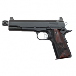Dan Wesson 01831 1911 Vigil Single 9mm Luger 5 TB 9+1 Wood Grip Black Stainless Steel in.