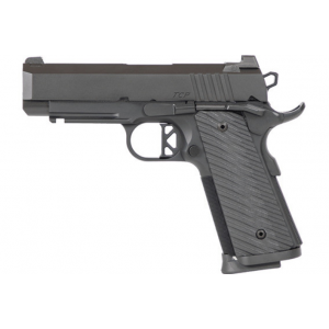 Dan Wesson 01845 1911 TCP 9mm Luger Single 4 8+1 Black G10 Grip Aluminum Alloy Frame Black Stainless Steel Slide in.