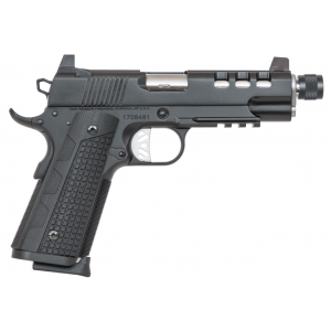 Dan Wesson 01888 1911 Discretion Commander Single 9mm Luger 5 10+1 Black G10 Grip Black Stainless Steel in.
