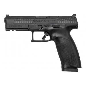 CZ 05150 P-10 Full Size Optics Ready 9mm Double 4.5 10+1 Black Interchangeable Backstrap Grip Black Polymer Frame Black Nitride Slide in.