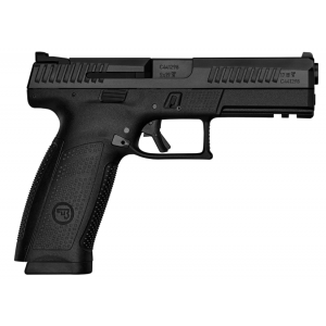 CZ 91540 P-10 Full-Size 9mm Double 4.5 19+1 Black Interchangeable Backstrap Grip Black Polymer Frame Black Nitride Slide in.