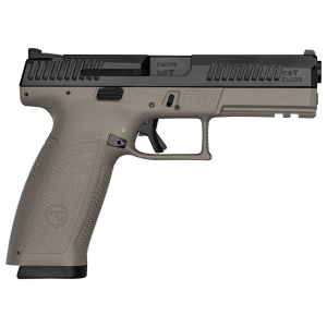 CZ 91543 P-10 Full Size 9mm Double 4.5 19+1 Flat Dark Earth Polymer Frame Black Nitride Slide in.