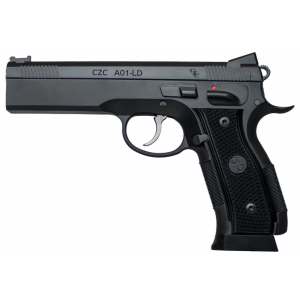 CZ 91731 A01 9mm Single 4.9 19+1 Black Checkered Grip Blued Stainless Steel Frame Blued Steel Slide in.