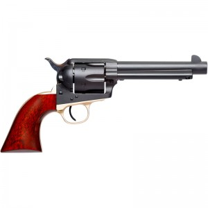 Taylors and Company 0398DE Old Randall Revolver Single 45 Colt (LC) 5.50in. 6 Round Walnut Grip Black