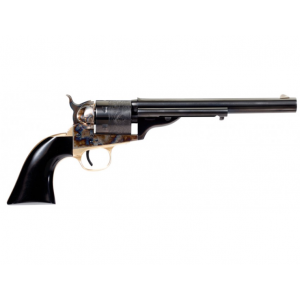Taylors and Company Cavalier Open-Top Revolver Single 38 Special 7.5 6 Rd Black Polymer Grip Blued/Case Hardened Frame in.