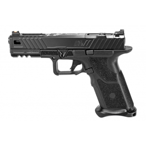 ZEV OZ9STDBB OZ9 Modular 9mm Double 4.49 17+1 Black Polymer Grip Steel Frame Black Slide in.