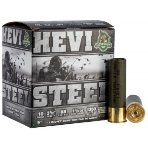 Hevishot 61088 Hevi-Steel 10 Gauge 3.5in. 1 3/4 oz BB Shot 25 Bx/ 10 Cs