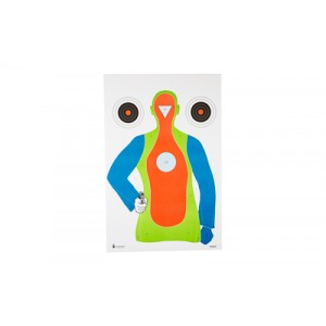 ACTION TARGET INC PRB21E100 High Visibility Fluorescent B-21EPaper 23in. x 35in. Black/Blue/Green/Orange