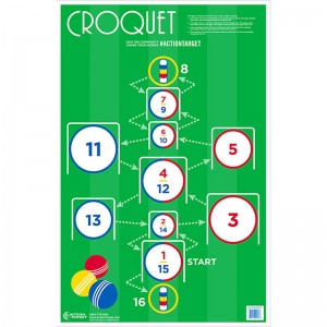 ACTION TARGET INC GS-CROQUET-100EM# Action Croquet Hanging Paper 23in. x 35in. Croquet Multi 100