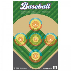 ACTION TARGET INC GS-BASE-100FIRE1100 Action Baseball Hanging Paper 23in. x 35in. Baseball Multi 100