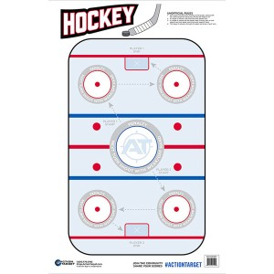ACTION TARGET INC GS-HOCKEY-100100 BX Action Hockey Hanging Paper 23in. x 35in. Hockeye Red/White/Blue 100