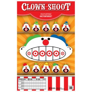 ACTION TARGET INC GS-CARCLWN-100 Action Clown-Shoot Hanging Paper 23in. x 35in. Clowns Multi 100