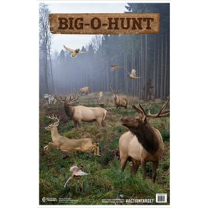 ACTION TARGET INC GS-BIGHUNT-100 Action Big-O-Hunt Hanging Paper 23in. x 35in. Animals Multi 100