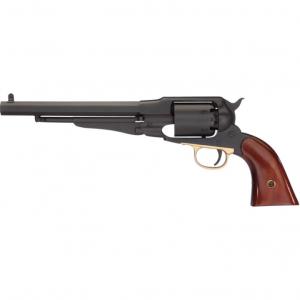 Taylors and Company 430ABR 1858 Remington Revolver 44 Black Powder 8 6-Shot Blade Front Striker Fire Black Nitride in.