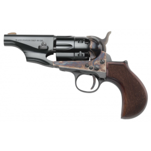 Taylors and Company 317PIE 1860 Army Snub Nose Revolver 44 Black Powder 3 Blade Front Striker Fire in.