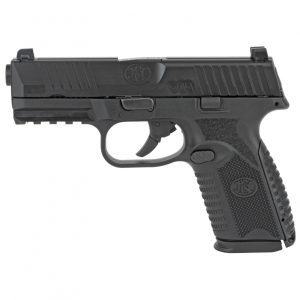FN 66100464 509 Mid-Size 9mm Luger Double 4 10+1 Black Interchangeable Backstrap Grip Black Polymer Frame Black Slide in.