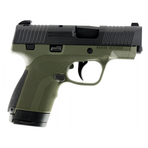 Honor Defense HG9SCOD Honor Guard Double 9mm Luger 3.2 7+1 OD Green Interchangeable Backstrap Grip Black Stainless Steel in.