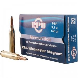 PPU PP264 Standard Rifle 264 Win Mag 140 GR Pointed Soft Point (PSP) 20 Bx/ 10 Cs