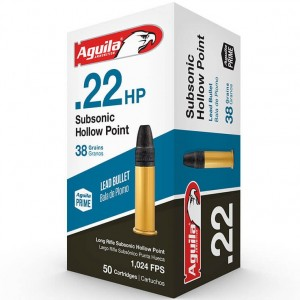 Aguila Subsonic Hollow Point 22 Long Rifle 50rd Ammo
