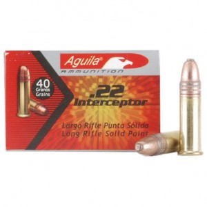 Aguila Interceptor 22 Long Rifle 50rd Ammo