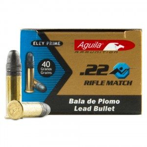 Aguila Rifle Match Competition 22 Long Rifle 50rd Ammo