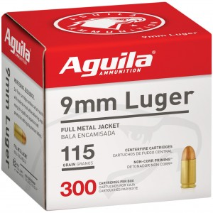 Aguila Centerfire Pistol 9mm Luger 300rd Ammo