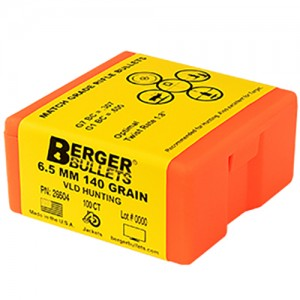Berger Hunting 6.5mm Caliber 100rd Bullet