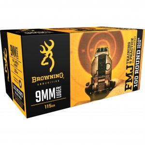 Browning Training & Practice 9mm Luger 100rd Ammo