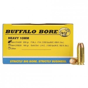 Buffalo Bore Handgun 10mm Auto 20rd Ammo