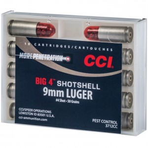 CCI Big 4 Shotshell 9mm Luger 4 Shot 10rd Ammo