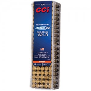 CCI Clean-22 Sub-Sonic 22 Long Rifle 100rd Ammo