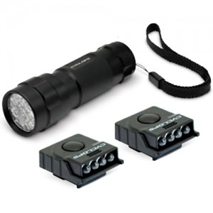Cyclops 14 LED Flashlight & 2 Ultimate Mini LED Hat Clips