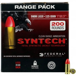 Federal Syntech 9mm Luger 200rd Ammo