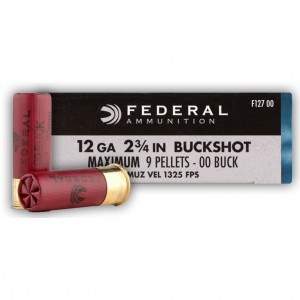 Federal Power-Shok 12 Gauge 00 Buck 5rd Ammo