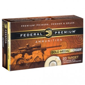 Federal Gold Medal Berger 308 Winchester 20rd Ammo