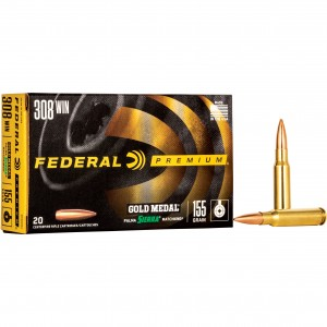 Federal Gold Medal Sierra 308 Winchester 20rd Ammo