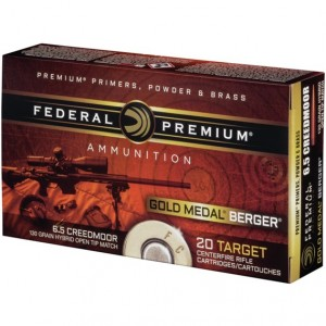 Federal Gold Medal Berger 6.5 Creedmoor 20rd Ammo