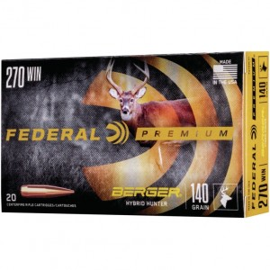 Federal Berger 270 Winchester 20rd Ammo
