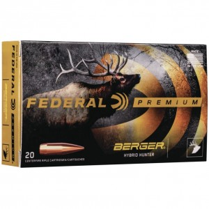Federal Berger 300 Winchester Magnum 20rd Ammo