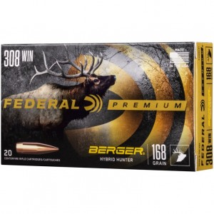 Federal Berger 308 Winchester 20rd Ammo