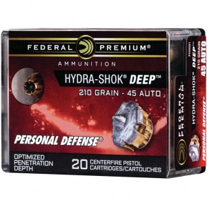 Federal Personal Defense 45 ACP 20rd Ammo