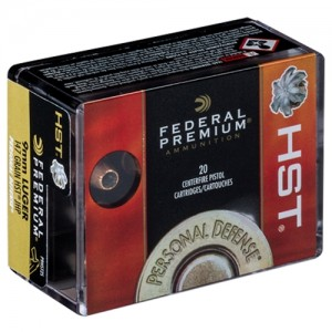 Federal Personal Defense HST 9mm Luger 20rd Ammo