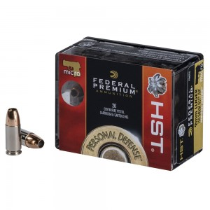 Federal Personal Defense 9mm Luger 20rd Ammo