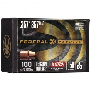 Federal Personal Defense 357 Magnum 100rd Bullet