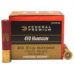 Federal Personal Defense 410 Gauge 000 Buck 20rd Ammo