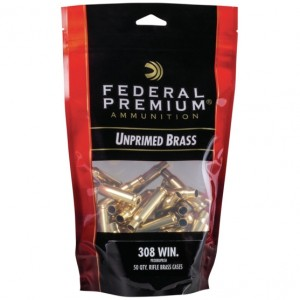 Federal 308 Winchester Unprimed 50rd Brass
