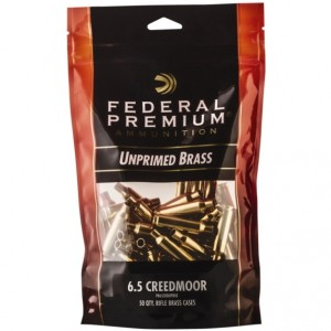 Federal 6.5 Creedmoor Unprimed 50rd Brass