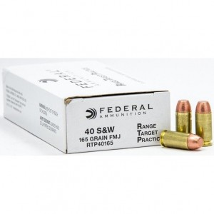 Federal Range Target Practice 40 Smith & Wesson 50rd Ammo
